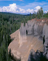 ORCL_017 - USA, Oregon, Crater Lake National Park, The Pinnacles are formed from erosion resistant welded pumice.