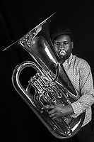 Theon Cross is a London based Tuba player and composer and is one of the key components of the cities thriving young jazz scene. He has made a name for himself for providing his own unique brand of swaggering Tuba Bass in jazz and various other styles of music. Most significantly in the award winning four-piece Sons of Kemet. He has also worked with a range of other well known musicians including Moses Boyd, Jon Batiste &amp; Stay Human, Pharoe Monch, Emile Sande and Kano.<br /> <br /> In addition to his work in these projects he skilfully leads his own powerful and eclectic group exploring the diverse range of musical sounds of London through his compositions. His debut release &lsquo;Aspirations&rsquo; was one of the most impactful of 2015 putting him up for two nominations for Best Instrumentalist of the year( Jazz Fm Awards 2016) and Best Jazz Newcomer (Parliamentary Awards 2016)<br /> <br /> Many live outings have proved his and his groups impact including opening for Christian Scott at the 2015 EFG London Jazz Festival.Theon Cross is a tuba player who was born in 1992 and raised in Brockley. Mentored by Andy Grappy, who was at the centre of influential late-&rsquo;80s powerhouse the Jazz Warriors, Theon&rsquo;s sonic alchemy draws from the history of New Orleans jazz while locking into a tight, contemporary sound.