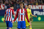 Antoine Griezmann of Atletico de Madrid reacts during the match of La Liga between Atletico de Madrid and Villarreal at Vicente Calderon  Stadium  in Madrid, Spain. April 25, 2017. (ALTERPHOTOS/Rodrigo Jimenez)