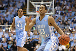 31 December 2013: North Carolina's J.P. Tokoto. The University of North Carolina Tar Heels played the UNC Wilmington Seahawks at the Dean E. Smith Center in Chapel Hill, North Carolina in a 2013-14 NCAA Division I Men's Basketball game. UNC won the game 84-51.