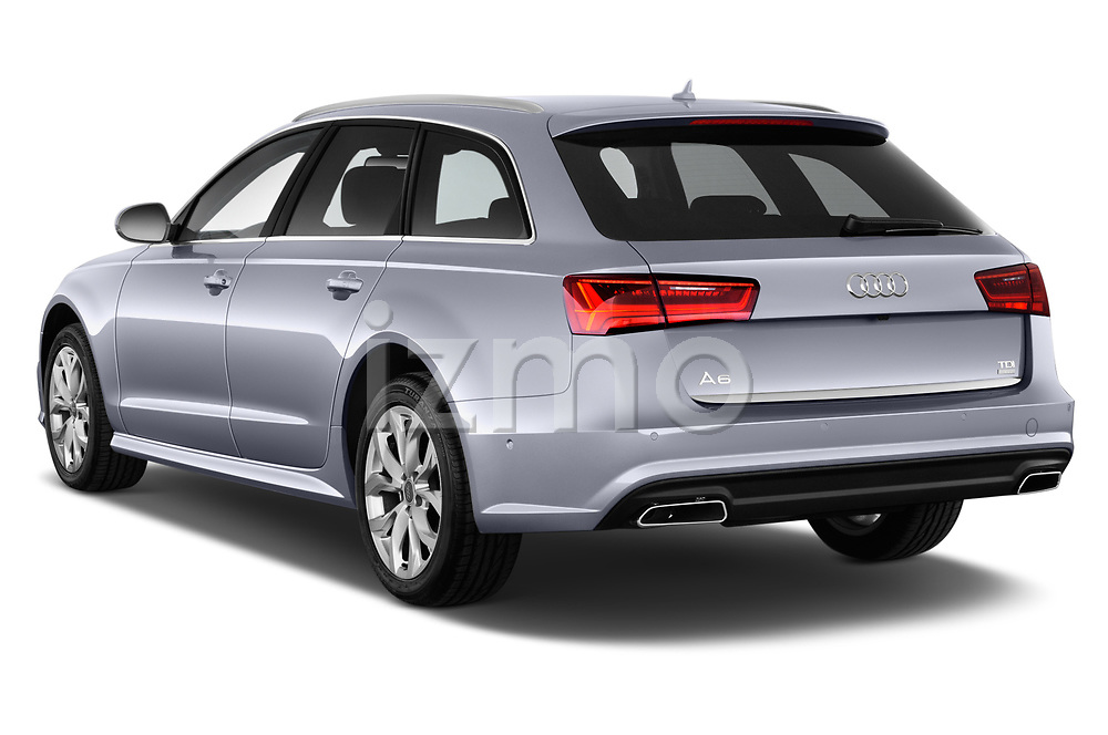 Car pictures of rear three quarter view of a 2018 Audi A6 Avant Business Edition 5 Door Wagon angular rear