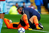 10th September 2017, Turf Moor, Burnley, England; EPL Premier League football, Burnley versus Crystal Palace; Tom Heaton of Burnley lies injured and needs to be replaced