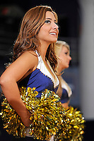 11 November 2011:  FIU's Golden Dazzlers entertain the crowd during a break in the action as the FIU Golden Panthers defeated the Jacksonville University Dolphins, 63-37, at the U.S. Century Bank Arena in Miami, Florida.