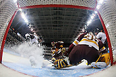 Jeremy Welsh (Union - 27), ?, Kenny Reiter (Duluth - 35) - The University of Minnesota-Duluth Bulldogs defeated the Union College Dutchmen 2-0 in their NCAA East Regional Semi-Final on Friday, March 25, 2011, at Webster Bank Arena at Harbor Yard in Bridgeport, Connecticut.