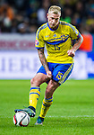Solna 2015-10-12 Fotboll EM-kval , Sverige - Moldavien :  <br /> Sveriges John Guidetti i aktion under matchen mellan Sverige och Moldavien <br /> (Photo: Kenta J&ouml;nsson) Keywords:  Sweden Sverige Solna Stockholm Friends Arena EM Kval EM-kval UEFA Euro European 2016 Qualifying Group Grupp G Moldavien Moldova portr&auml;tt portrait
