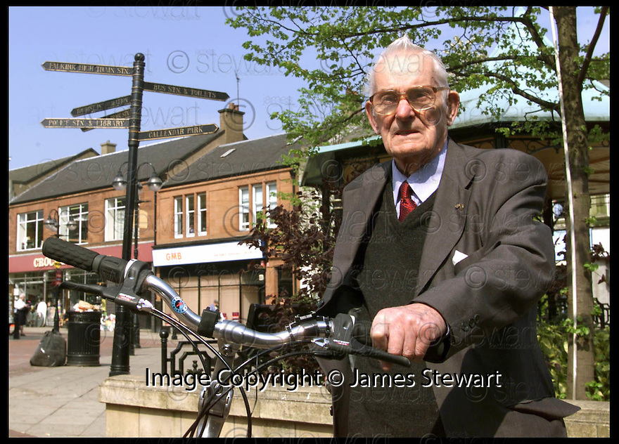 5th April 99                          Copyright Pic : James Stewart .Ref :  990215                         .File Name : stewart04-george smith                        .GEORGE SMITH WHO STILL RUNS HIS BIKE SHOP IN FALKIRK DESPITE BEING 90 YEARS OLD......(see copy from Jim Davis).......Payments to :-.James Stewart Photo Agency, Stewart House, Stewart Road, Falkirk. FK2 7AS      Vat Reg No. 607 6932 25.Office : 01324 630007        Mobile : 0421 416997.E-mail : JSpics@aol.com.If you require further information then contact Jim Stewart on any of the numbers above.........