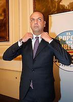 MANIFESTAZIONE ELETTORALE  DEL PDL.NELLA FOTO  ANGELINO ALFANO.FOTO CIRO DE LUCA