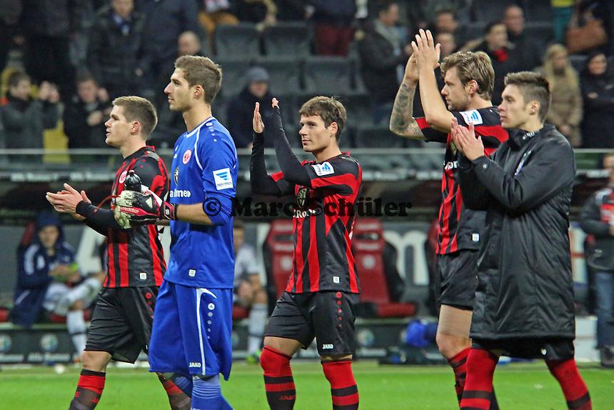 Eintracht frustriert nach dem erneut spät verspielten Sieg - Eintracht Frankfurt vs. FC Schalke 04, Commerzbank Arena