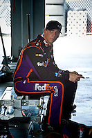 Practice did not go well for Denny Hamlin (#11) leading to a poor qualifying spot deep in the field.