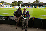 Yeovil Town 0 Queens Park Rangers 1, 21/09/2013. Huish Park, Championship. Two elderley Yeovil fans. Photo by Paul Thompson.