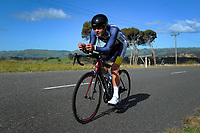 Christian Rush (Auckland Central Cycling Club) Under-19 Time trials. Time trials on Day One of the 2018 NZ Age Group Road Cycling Championships in Carterton, New Zealand on 20 April 2018. Photo: Dave Lintott / lintottphoto.co.nz