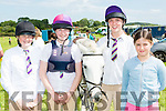 Kate Sheehan, Katie, Millie and Aoife O'Sullivan Beaufort with Blue at the Killorglin Pony show on Sunday