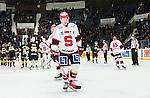 Stockholm 2014-12-01 Ishockey Hockeyallsvenskan AIK - S&ouml;dert&auml;lje SK :  <br /> S&ouml;dert&auml;ljes Christopher Aspeqvist deppar efter matchen mellan AIK och S&ouml;dert&auml;lje SK <br /> (Foto: Kenta J&ouml;nsson) Nyckelord:  AIK Gnaget Hockeyallsvenskan Allsvenskan Hovet Johanneshov Isstadion S&ouml;dert&auml;lje SSK depp besviken besvikelse sorg ledsen deppig nedst&auml;md uppgiven sad disappointment disappointed dejected