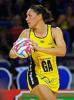 Jodi Brown in action during the ANZ Netball Championship match between the Central Pulse and Mainland Tactix at Te Rauparaha Arena, Wellington, New Zealand on Saturday, 11 May 2015. Photo: Dave Lintott / lintottphoto.co.nz