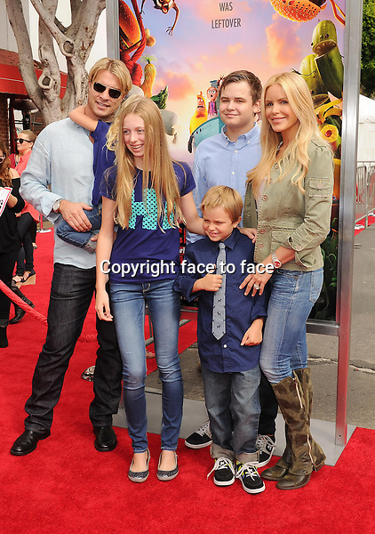 WESTWOOD, CA- SEPTEMBER 21: Actress/model Gena Lee Nolin and family arrive at the Los Angeles premiere of 'Cloudy With A Chance Of Meatballs 2' at the Regency Village Theatre on September 21, 2013 in Westwood, California.(Gena Lee Nolin)<br /> Credit: Mayer/face to face<br /> - No Rights for USA, Canada and France -