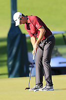 Justin Rose (ENG) putts on the 16th green during Friday's Round 2 of the 2018 Turkish Airlines Open hosted by Regnum Carya Golf &amp; Spa Resort, Antalya, Turkey. 2nd November 2018.<br /> Picture: Eoin Clarke | Golffile<br /> <br /> <br /> All photos usage must carry mandatory copyright credit (&copy; Golffile | Eoin Clarke)