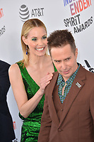 Leslie Bibb &amp; Sam Rockwell at the 2018 Film Independent Spirit Awards on the beach in Santa Monica, USA 03 March 2018<br /> Picture: Paul Smith/Featureflash/SilverHub 0208 004 5359 sales@silverhubmedia.com