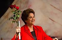 BRASÍLIA, DF, 05.07.2017 - PT - DIRETORIO -     A ex-presidente Dilma Rousseff, durante a posse do Diretório Nacional do PT, no Centro de Convenções Brasil 21, em Brasília, nesta quarta, 05. (Foto: Ed Ferreira/Brazil Photo Press).