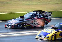 Sept. 23, 2012; Ennis, TX, USA: NHRA funny car driver Blake Alexander during the Fall Nationals at the Texas Motorplex. Mandatory Credit: Mark J. Rebilas-