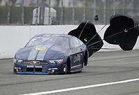Feb 9, 2020; Pomona, CA, USA; NHRA pro stock driver Fernando Cuadra Jr during the Winternationals at Auto Club Raceway at Pomona. Mandatory Credit: Mark J. Rebilas-USA TODAY Sports