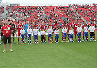 July 20, 2013: Toronto FC during the opening ceremonies in a game between Toronto FC and the Columbus Crew at BMO Field in Toronto, Ontario Canada.<br /> Toronto FC won 2-1.
