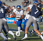 San Jose State running back  Dejon Packer runs against Nevada in the first half of an NCAA college football game in Reno, Nev. Saturday, Nov. 11, 2017. (AP Photo/Tom R. Smedes)