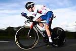 Oscar Nilsson-Julien of Great Britain in action during the Men Junior Individual Time Trial of the UCI World Championships 2019 running 27.6km from Harrogate to Harrogate, England. 23rd September 2019.<br /> Picture: Alex Whitehead/SWPix.com | Cyclefile<br /> <br /> All photos usage must carry mandatory copyright credit (© Cyclefile | Alex Whitehead/SWPix.com)