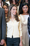 "Princess Letizia of Spain attends in audience a representation of ""Prado de Santo Domingo"" High Scholl of Alcorcon.May 22 ,2012. (ALTERPHOTOS/Acero)"