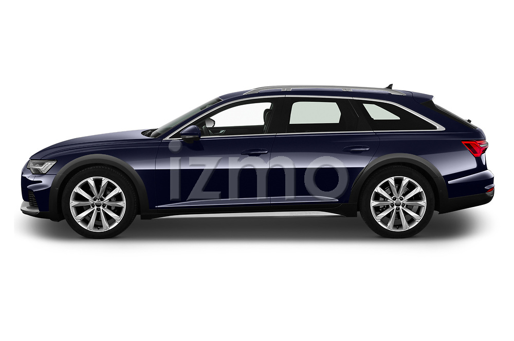 Car driver side profile view of a 2020 Audi A6 allroad quattro Base 5 Door Wagon