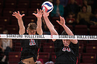 STANFORD, CA - January 23, 2015:  The Stanford Cardinal vs CSU Northridge Matadors at Maples Pavilion in Stanford, CA. Stanford wins the match 3-2.