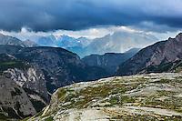 Mountain impression west of Tre Cime - Europe, Italy, South Tyrol, Sexten Dolomites, Tre Cime - Afternoon - July 2009 - Mission Dolomites Tre Cime
