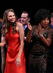 Sutton Foster, Noah Racey and Sheryl Lee Ralph during the curtain Call bows for the Actors Fund's 15th Anniversary Reunion Concert of 'Thoroughly Modern Millie' on February 18, 2018 at the Minskoff Theatre in New York City.