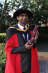 20/1/2015   (with compliments)  Attending the University of limerick conferrings on Monday morning was PHD student Anil Babu Yarlagadda from dairygold, Mitchelstown, Co. Cork.<br /> Picture Liam Burke/Press 22