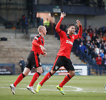 Harry Forrester scores for Rangers and celebrates