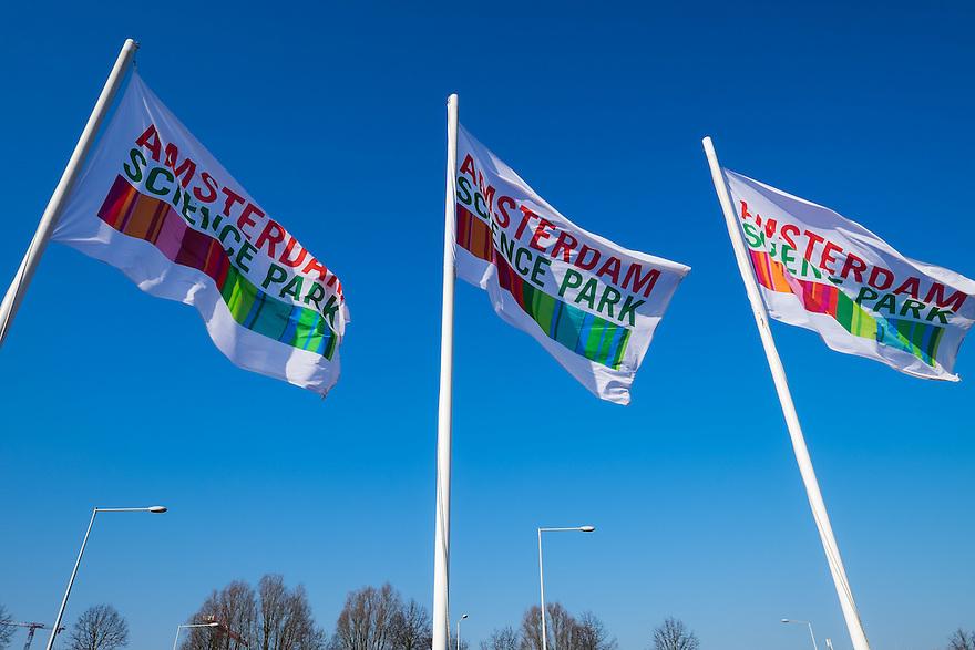 Nederland, Amsterdam, 13 feb 2015<br /> Amsterdam Science Park. Het Science Park in Amsterdam-oost is volop in ontwikkeling, met de universiteit van Amsterdam als middelpunt. <br />  Foto: (c) Michiel Wijnbergh