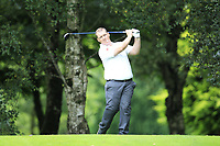 Peter Smith (Warrenpoint) during the final  of the Ulster Mixed Foursomes at Killymoon Golf Club, Belfast, Northern Ireland. 26/08/2017<br /> Picture: Fran Caffrey / Golffile<br /> <br /> All photo usage must carry mandatory copyright credit (&copy; Golffile   Fran Caffrey)