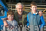 Dean, Tom and Daniel Casey Annuscaul at the Milltown Mart on Saturday.... ..