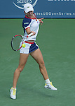 Simona Halep (ROU), loses to Serena Williams (USA) 6-0, 6-4 at the Western & Southern Open in Mason, OH on August 16, 2013.