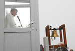 Archbishop of Tuam Michael Neary celebrates mass on the summit of Croagh Patrick on reek sunday...Pic Conor McKeown