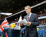 Dave King addresses the Rangers fans before kick-off