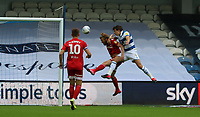 first goal scored for Queens Park Rangers by Jordan Hugill of Queens Park Rangers during Queens Park Rangers vs Fulham, Sky Bet EFL Championship Football at the Kiyan Prince Foundation Stadium on 30th June 2020