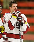 Alex Killorn (Harvard - 19) - The Harvard University Crimson defeated the St. Lawrence University Saints 4-3 on senior night Saturday, February 26, 2011, at Bright Hockey Center in Cambridge, Massachusetts.