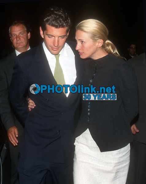 John F. Kennedy, Jr, Carolyn Kennedy, 1998, Photo By John Barrett/PHOTOlink