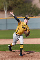 Shawn Triplett (10) of Ridgeline High School in Providence, Utah during the Under Armour All-American Pre-Season Tournament presented by Baseball Factory on January 14, 2017 at Sloan Park in Mesa, Arizona.  (Kevin C. Cox/MJP/Four Seam Images)