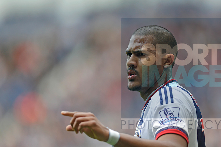 Salomon Rondon of West Bromwich Albion looks on during the Barclays Premier League match at The Hawthorns.  Photo credit should read: Malcolm Couzens/Sportimage
