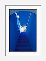 """Stairway to Heaven"" - Image from the Book Journey through Color and Time, 2006, GREECE, THE COLORS  OF SANTORINI"