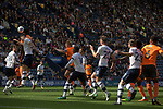Preston North End 1 Reading 0, 19/08/2017. Deepdale, Championship. First-half action as the away team (in orange) press for an equaliser as Preston North End take on Reading in an EFL Championship match at Deepdale. The home team won the match 1-0, Jordan Hughill scoring the only goal after 22nd minutes, watched by a crowd of 11,174. Photo by Colin McPherson.