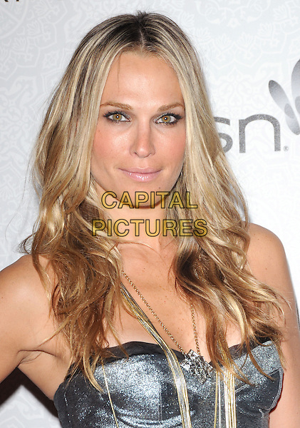 """MOLLY SIMS .at Art of Elysium 3rd Annual Black Tie charity gala '""""Heaven"""" held at 990 Wilshire Blvd in Beverly Hills, California, USA, January 16th 2010 .                                                                  arrivals portrait headshot silver gold necklace bustier straps chain strapless .CAP/RKE/DVS.©DVS/RockinExposures/Capital Pictures"""