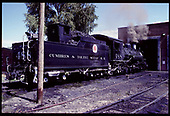 #488 K-36 at Chama engine house.<br /> D&amp;RGW  Chama, NM