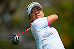 CHON BURI, THAILAND - FEBRUARY 19:  Mika Miyazato of Japan tees off on the 2nd hole during day three of the LPGA Thailand at Siam Country Club on February 19, 2011 in Chon Buri, Thailand.  Photo by Victor Fraile / The Power of Sport Images